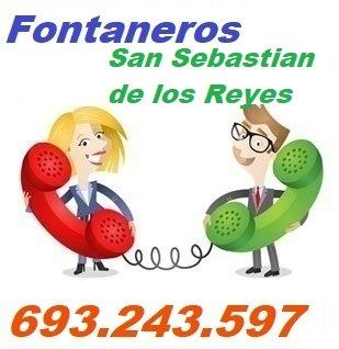 Telefono de la empresa fontaneros San Sebastian de los Reyes